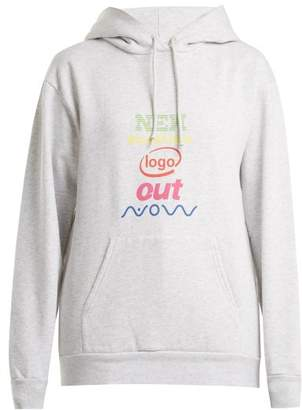 Balenciaga Logo Print Cotton Blend Sweatshirt - Womens - Light Grey