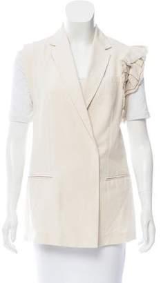 Brunello Cucinelli Monili-Trimmed Tailored Vest w/ Tags