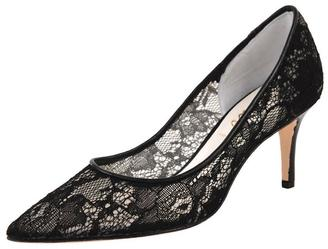 Butter Shoes Black Lace Pump $297 thestylecure.com