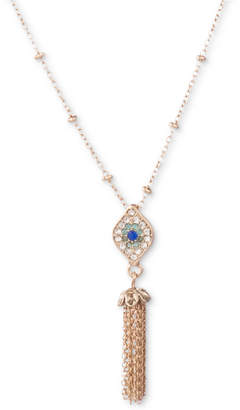 """lonna & lilly Gold-Tone Crystal Evil Eye & Chain Tassel Pendant Necklace, 16"""" + 3"""" extender"""