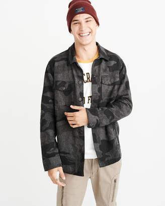 Abercrombie & Fitch Camo Jacquard Shirt Jacket