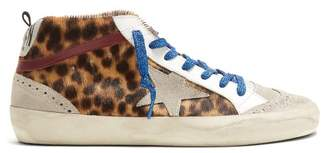 Golden Goose Midstar Suede And Leather Trainers - Womens - Brown Multi