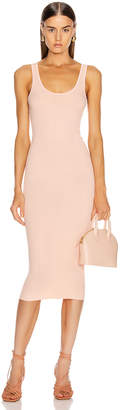 Enza Costa Rib Tank Midi Dress in Peach | FWRD
