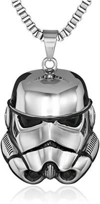 Star Wars Jewelry Unisex Storm Trooper 3D Stainless Steel Chain Pendant Necklace