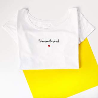 b1b8661e Snappy Crocodile Designs 'Valentine's Material, Women's T Shirt