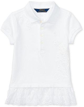 Ralph Lauren Scalloped-Hem Polo Shirt, Toddler & Little Girls (2T-6X) $39.50 thestylecure.com