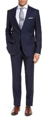 BOSS Huge/Genius Trim Fit Navy Wool Suit