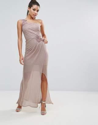 Lipsy Ruched One Shoulder Maxi Dress
