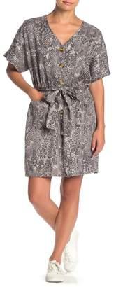 Velvet Heart Gisele Snake Print Shirt Dress