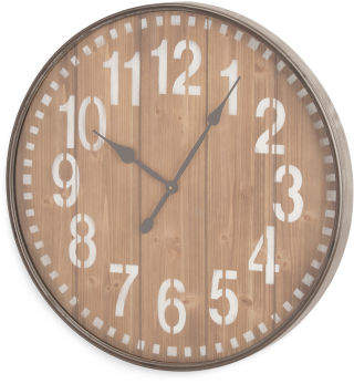Slatted Wall Clock