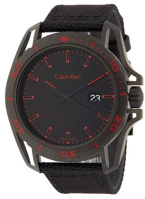 Calvin Klein Men's Earth Nylon Strap Watch, 43mm