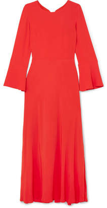 Paul & Joe Firenz Open-back Crepe De Chine Dress - Red