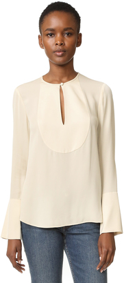 Theory Bahliee Flare Sleeve Blouse $285 thestylecure.com