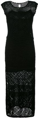 Twin-Set long crochet dress $280.04 thestylecure.com