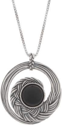 Or Paz Sterling Silver Gemstone Accent Round Pendant with Chain