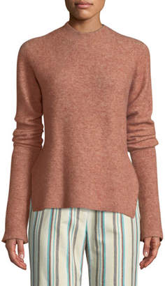 3.1 Phillip Lim Long-Sleeve Lofty Rib Alpaca-Blend Pullover Sweater