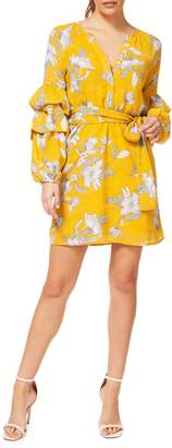 Dex Floral-Print Tiered-Sleeve Shirtdress