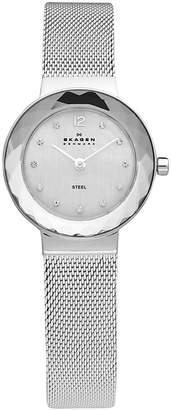 Skagen Stainless Steel Mesh Bracelet With Silver Dial Watch