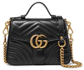 b4c4898598f Gucci Gg Marmont Mini Quilted Leather Shoulder Bag - Black