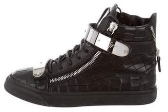 Giuseppe Zanotti Embossed Leather Sneakers