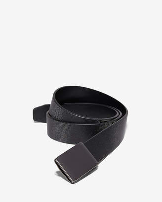 Express Custom Fit Matte Plaque Leather Slide Belt
