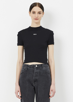 Off-White black s/s tee $303 thestylecure.com
