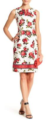 Chetta B V-Neck Floral Print Dress