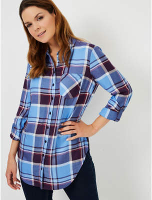 George Blue Check Print Tunic