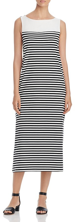 Max Mara Weekend Max Mara Citrato Striped Midi Dress