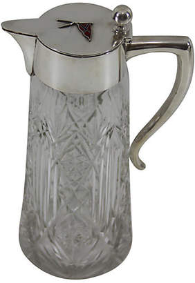 One Kings Lane Vintage Norwegian Silver Cut-Glass Pitcher