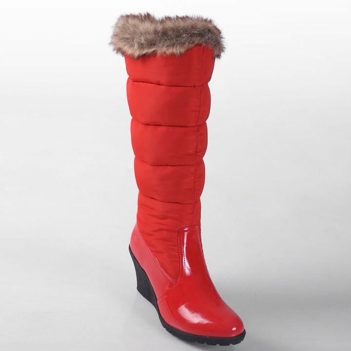 Journee Collection nala wedge winter boots - women