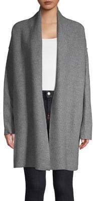 Lord & Taylor Heathered Merino Wool Cardigan
