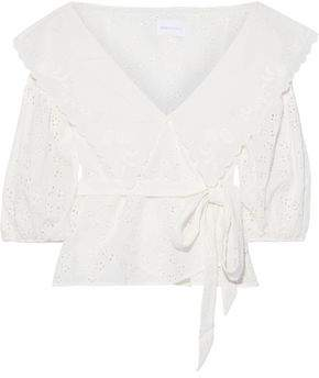 Alice McCall Wilde Grotto Broderie Anglaise Cotton Wrap Top