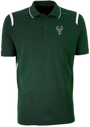 Antigua Men Milwaukee Bucks Merit Polo Shirt