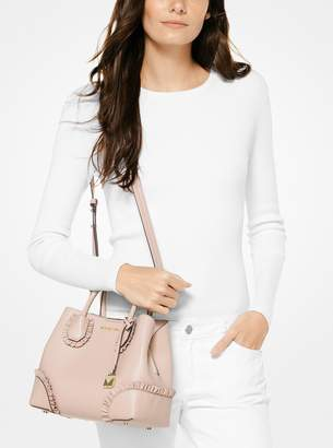 MICHAEL Michael Kors Mercer Gallery Small Ruffled Leather Satchel