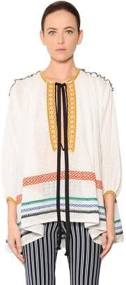 Sonia Rykiel Oversized Cotton & Linen Voile Blouse
