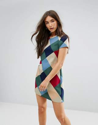 Traffic People Checked Swing Dress