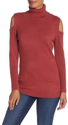 Love Token Long Sleeve Cold Shoulder Sweater
