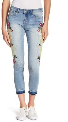 William Rast Floral Skinny Ankle Jeans