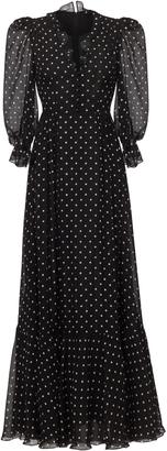 Ulyana Sergeenko Demi Couture Polka Dot V-Neck Gown