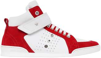 Jimmy Choo Leather & Suede High Top Sneakers