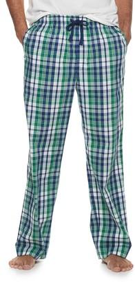 Croft & Barrow Men's Plaid Stretch Woven Pajama Pants