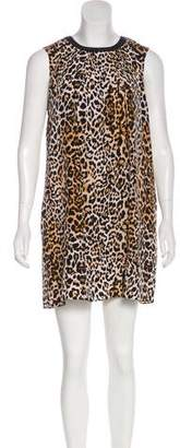 Rachel Zoe Leopard Silk Mini Dress