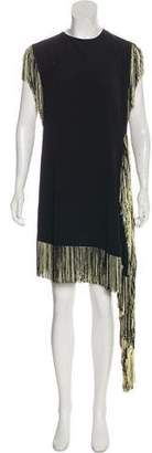 Leroy Veronique Sleeveless Fringe-Accented Dress w/ Tags