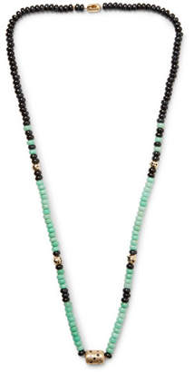 Luis Morais Gold, Tiger's Eye And Chrysoprase Necklace