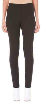 Carolina Herrera Side-Zip Skinny Wool-Blend Pants