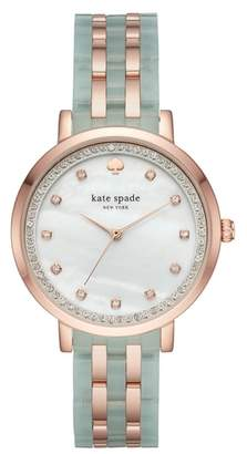 Kate Spade Monterey Crystal Dial Bracelet Watch, 38mm