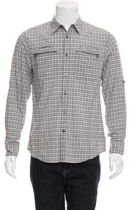 John Varvatos Plaid Button-Up Shirt