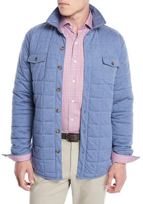 Peter Millar Men's Crown Soft Quilted Button-Front Barn Jacket