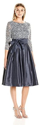 Jessica Howard Women's 3/4 Sleeve Tie Waist Dress with Pleated Skirt $118 thestylecure.com
